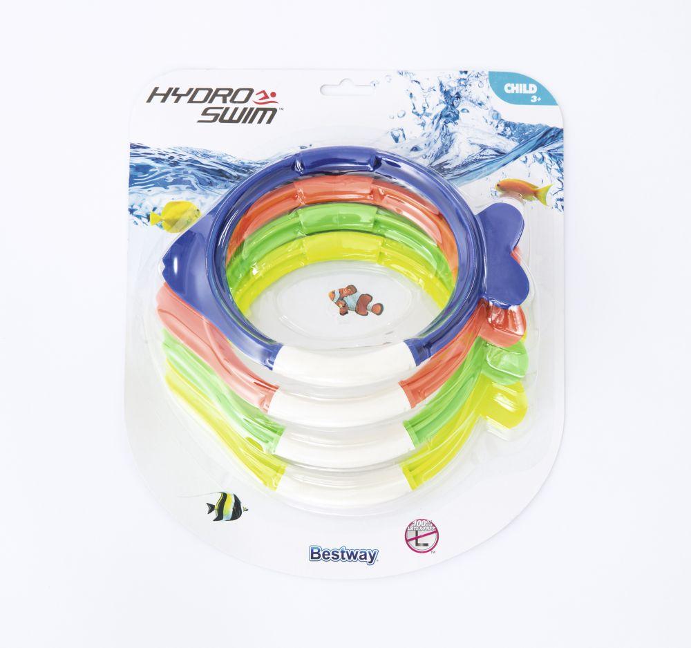 Bestway 26009 Kroužky pro nácvik potápění Dive Fish sada 4ks