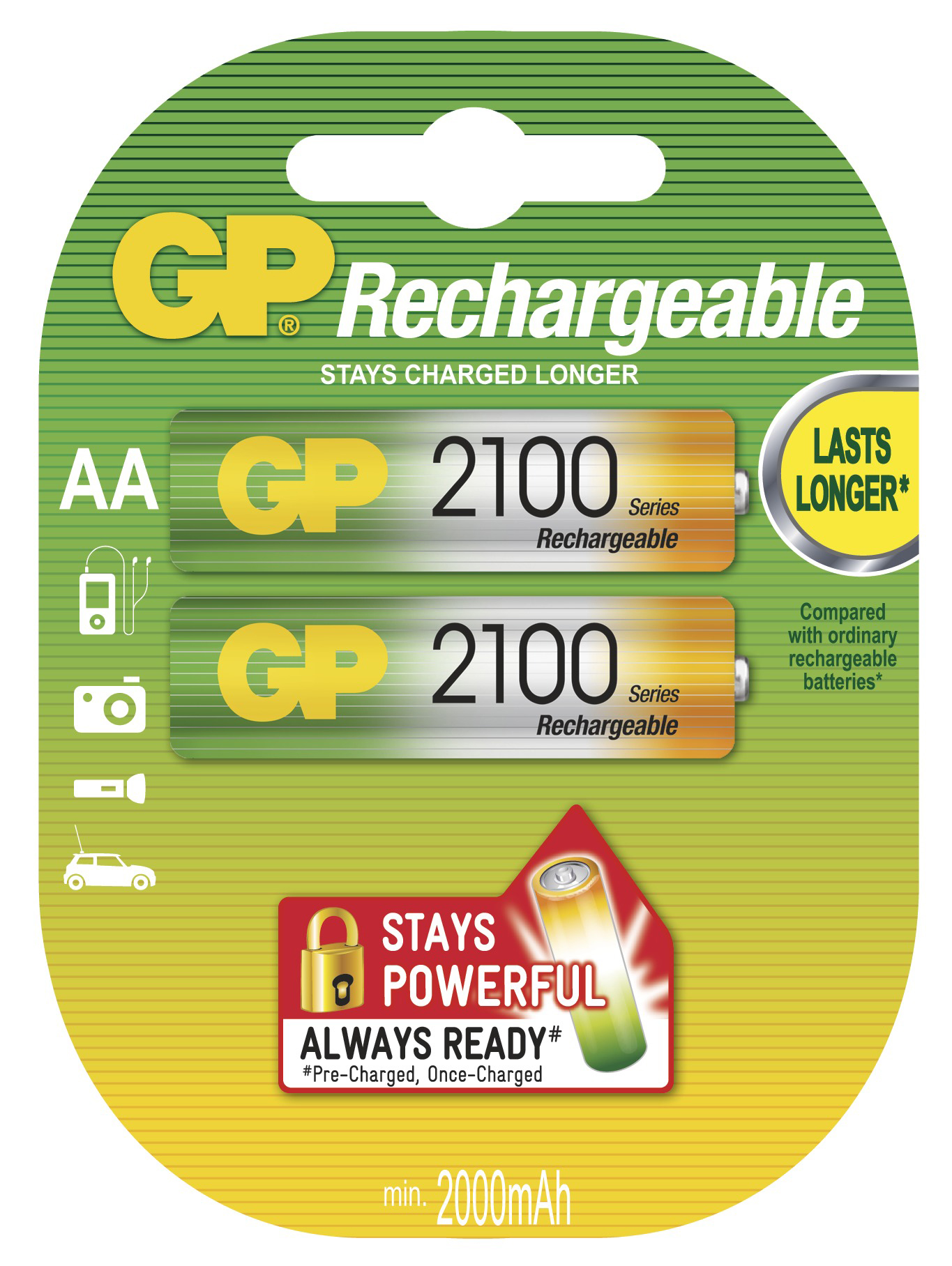 GP Batteries Nabíjecí baterie GP NiMH AA 2 ks