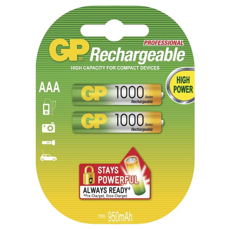 GP Batteries Nabíjecí baterie GP NiMH AAA 2 ks