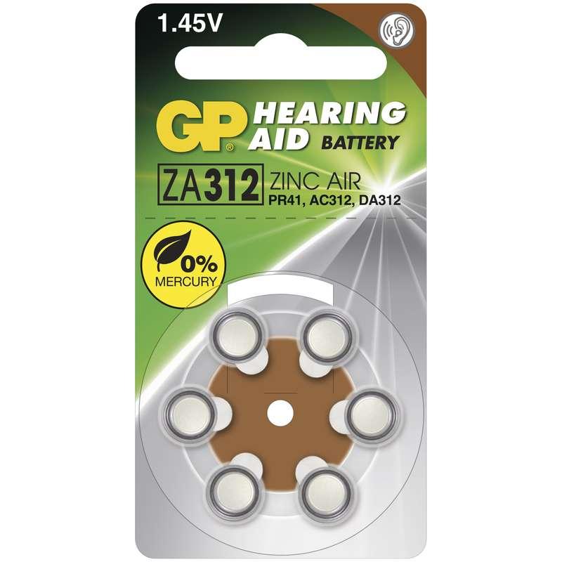 GP Batteries Baterie do naslouchadel GP ZA312 6 ks