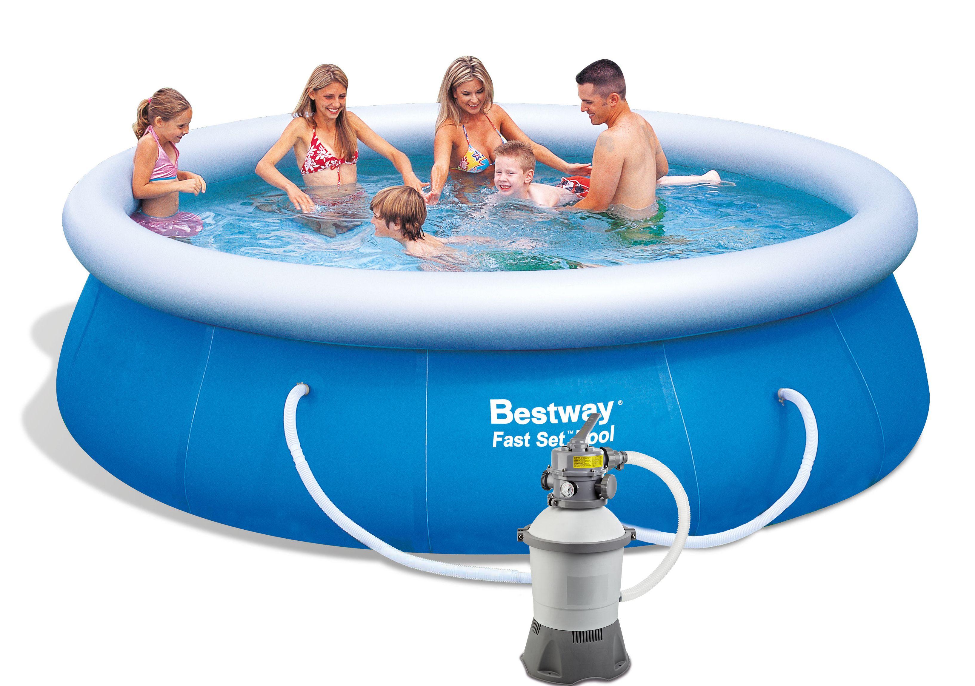 Bestway 13878PFS Bazén Fast Set 3,66 x 0,91 m s pískovou filtrací STANDARD 2006 l/hod