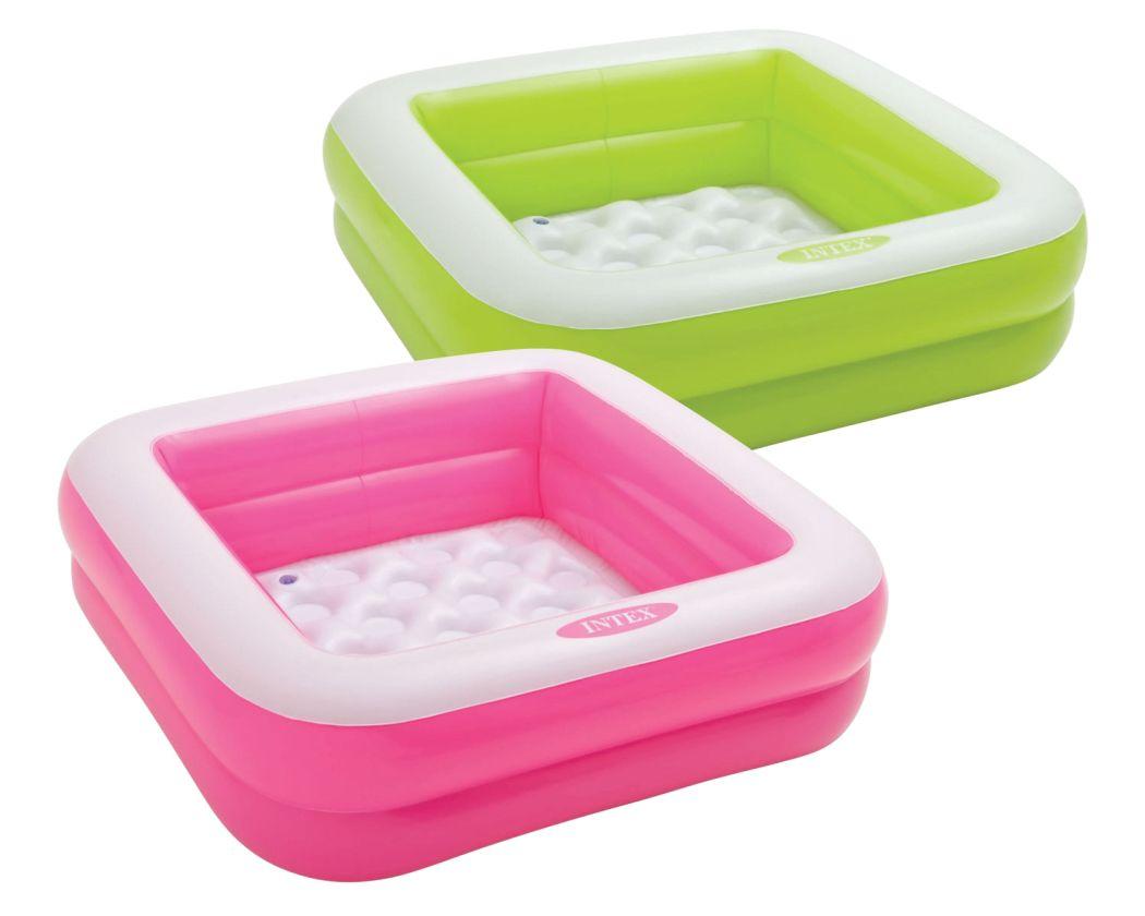 Intex 57100RU Dětský bazén Play Box 85 x 85 x 23 cm růžový