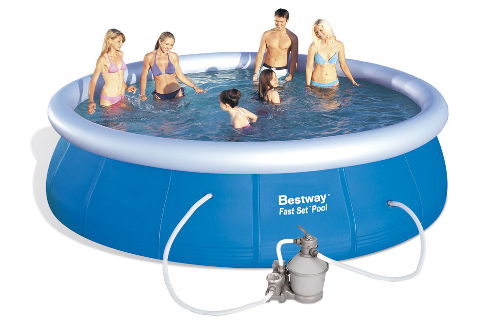 Bestway 57023PFR Bazén Fast Set 4,57 x 1,07 m s pískovou filtrací RAPID 3785 l/hod