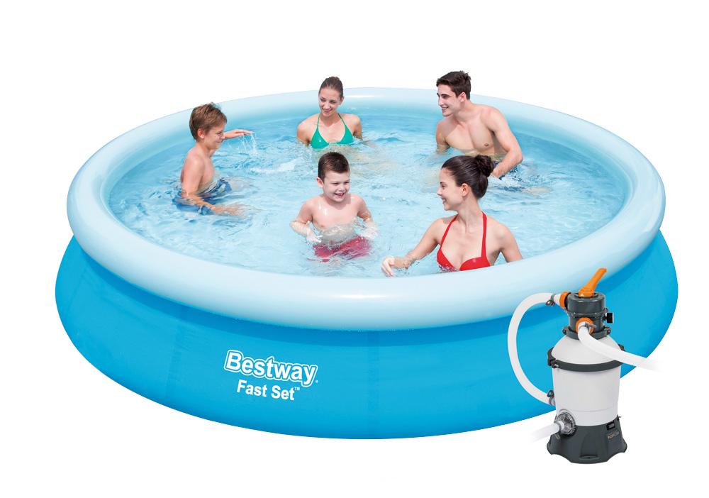 Bestway 57273PFS Bazén Fast Set 3,66 x 0,76 m s pískovou filtrací STANDARD PLUS 3028 l/hod