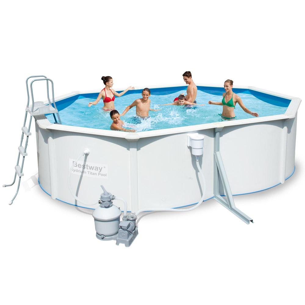Bazén rodinný s kovovou konstrukcí 488 x 366 x 122 cm