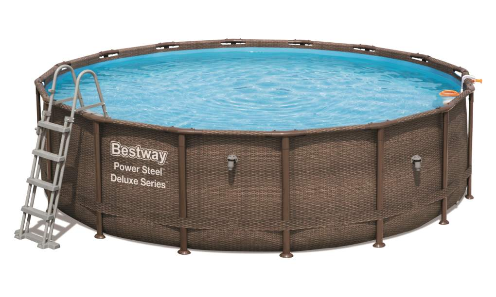Bestway Bazén Power Steel Frame Rattan 4,88 x 1,22 m - 56666
