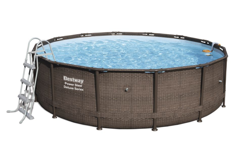 Bestway Bazén Power Steel Deluxe Rattan 4,27 x 1,07 m - 56664