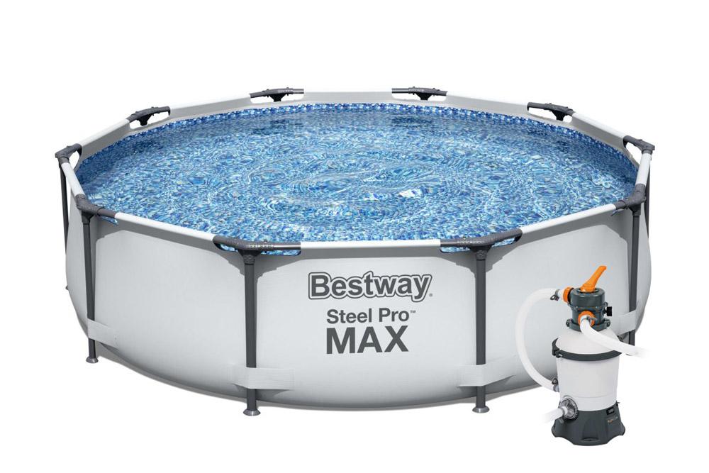 Bestway 56406PFS Bazén Steel Pro Max 3,05 x 0,76 m s pískovou filtrací STANDARD PLUS 3028 l/hod