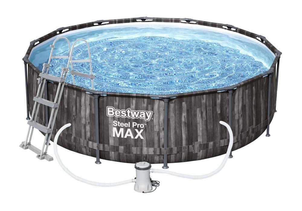 Bestway Bazén Steel Pro Max Wood 3,66 x 1 m - 5614X