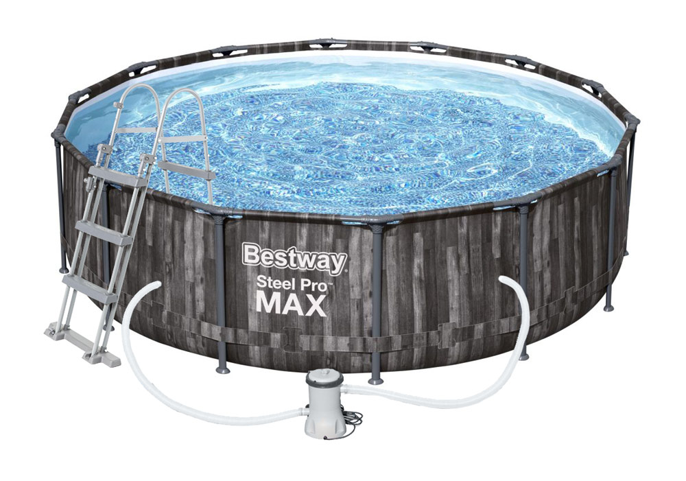 Bestway Bazén Steel Pro Max Wood 4,27 x 1,07 m - 5614Z