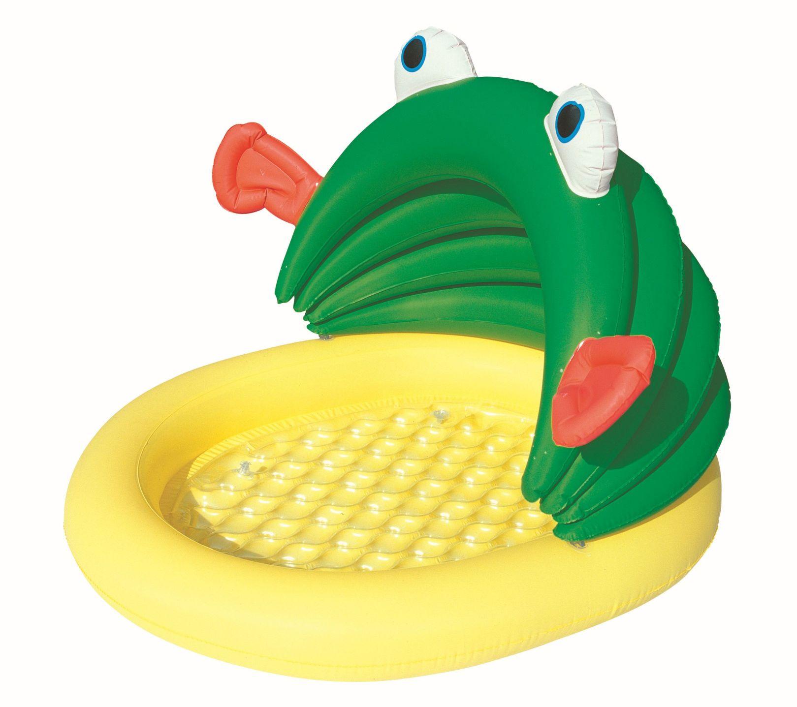 Bestway Dětský bazén 52162 žába se stříškou 107 x 104 x 71 cm