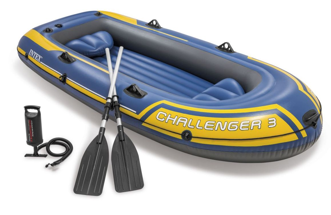Intex 68370 Nafukovací člun Challenger 3 Set - 295 x 137 x 43 cm