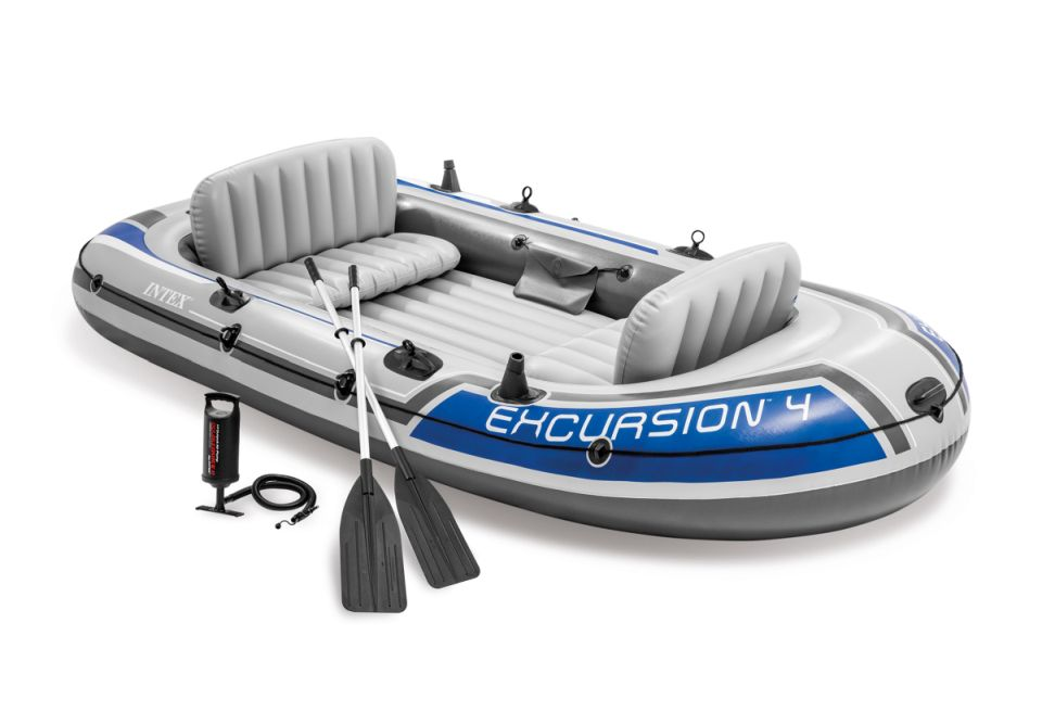 Intex 68324 Nafukovací člun Excursion 4 Set - 315 x 165 x 43 cm