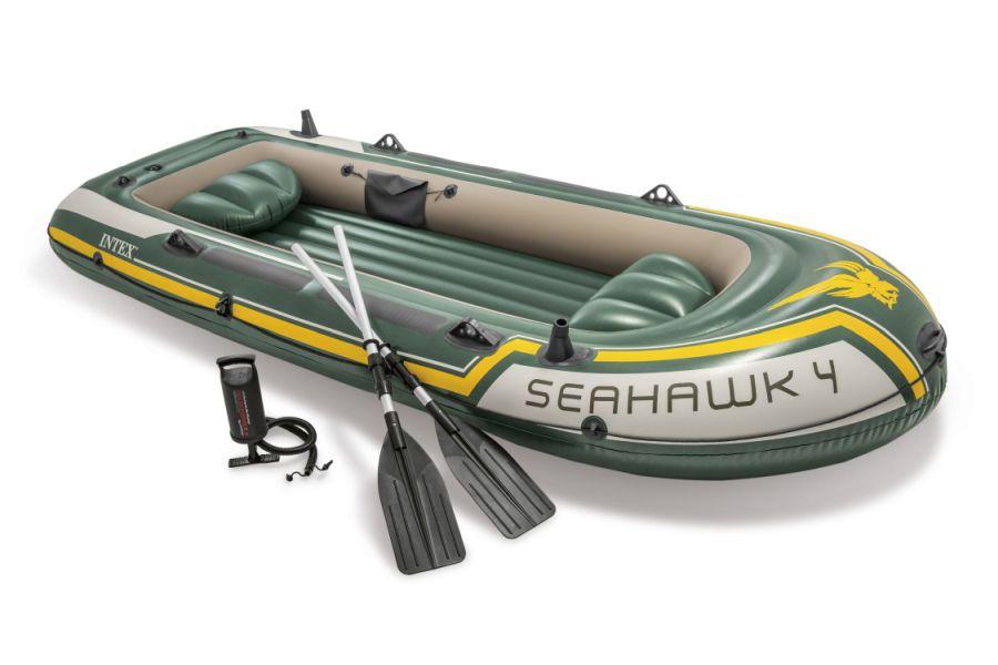 Intex 68351 Nafukovací člun Seahawk 4 Set - 351 x 145 x 48 cm