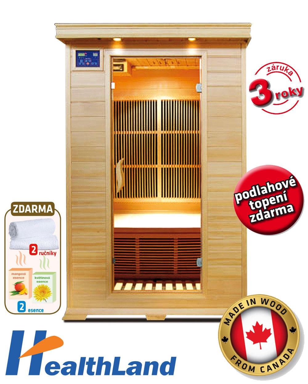 HealthLand Infrasauna DELUXE 2002 Carbon