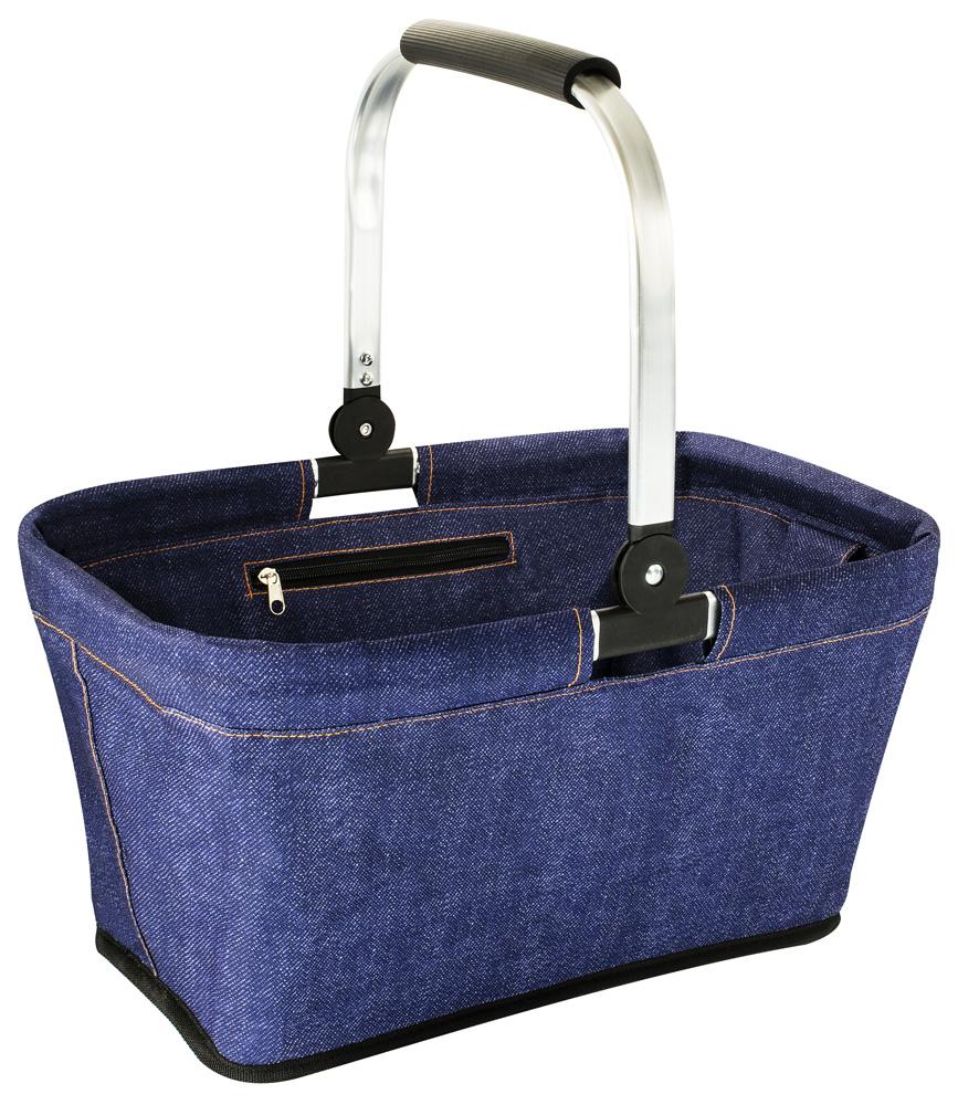 HomeLife Nákupní skládací košík vel. L jeans