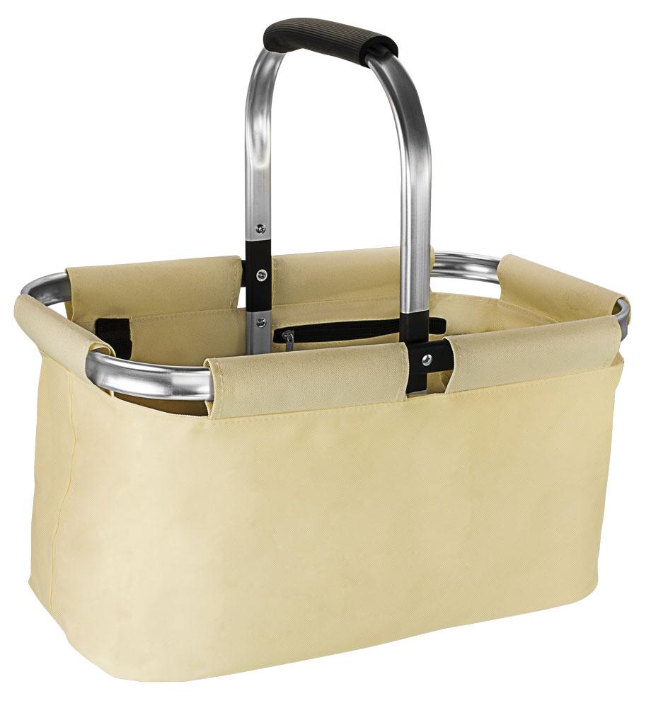 HomeLife Nákupní skládací košík XL béžová