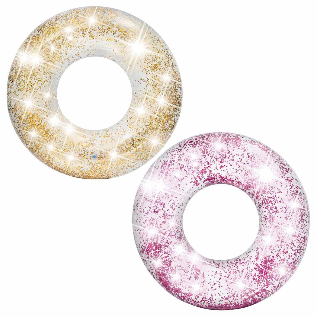 Intex 56274 Nafukovací kruh Sparkling Glitter zlatá