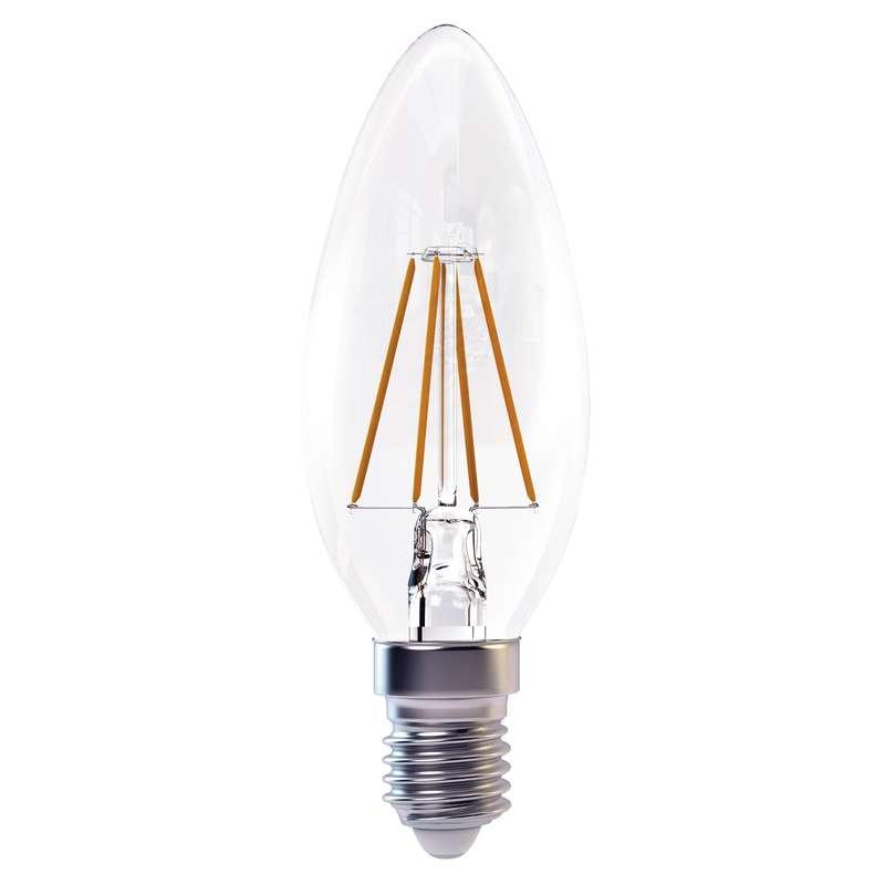 Emos LED žárovka filament candle 4W E14 teplá bílá