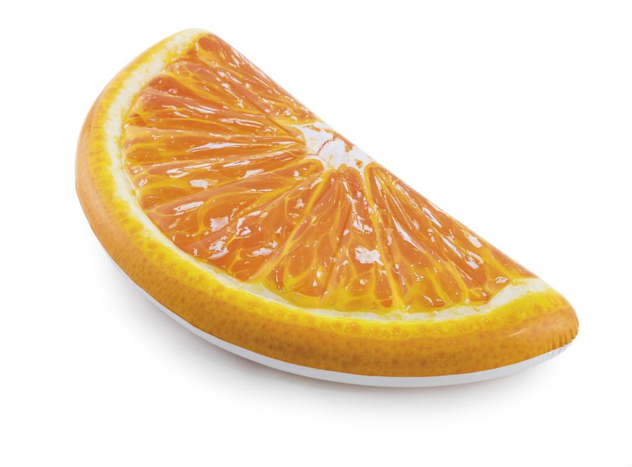 Intex 58763 Nafukovací lehátko pomeranč 178 x 85 cm