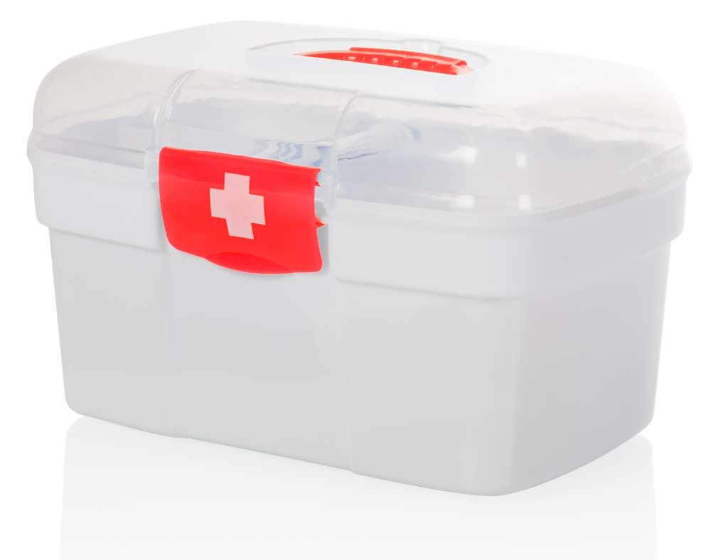 HomeLife Domácí lékárnička bez obsahu bílá