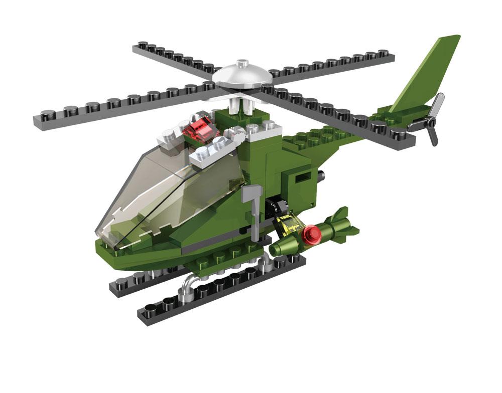 Kids World Logická stavebnice LOGIS helikoptéra 85 ks