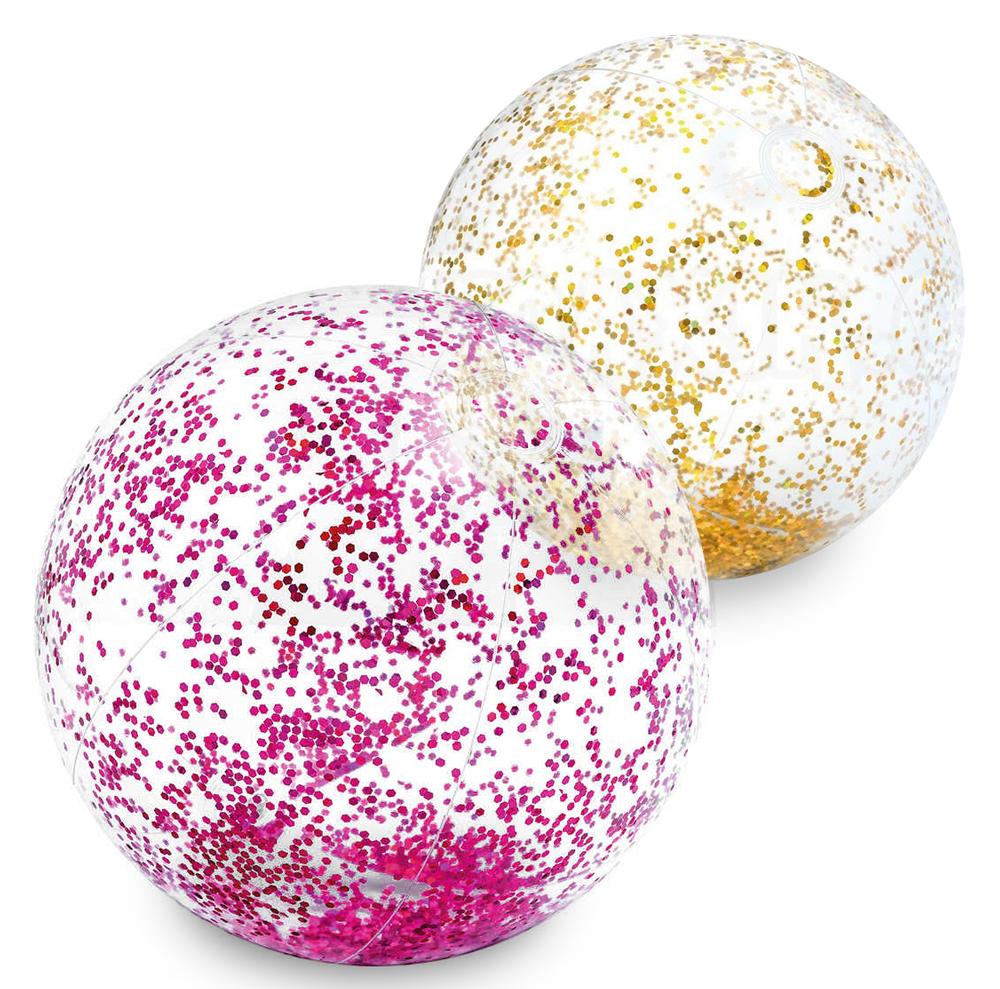 Intex 58070 Nafukovací míč Glitter růžová
