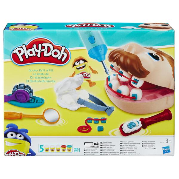 Hasbro Play-Doh Modelína zubař set s vrtačkou
