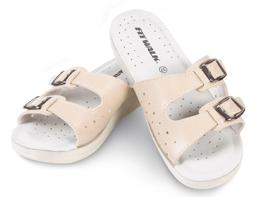 Fit Walk Dámské pantofle béžové