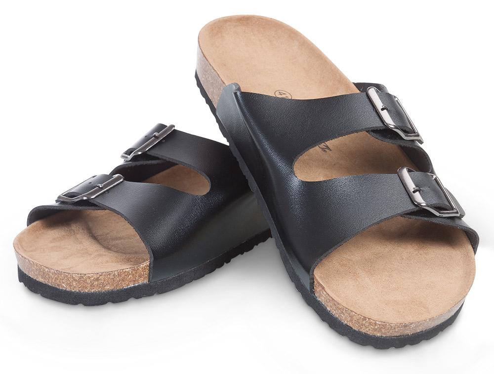 Fit Walk Pánské korkové pantofle černé