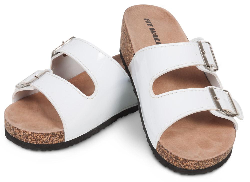 Fit Walk Dámské korkové pantofle bílé
