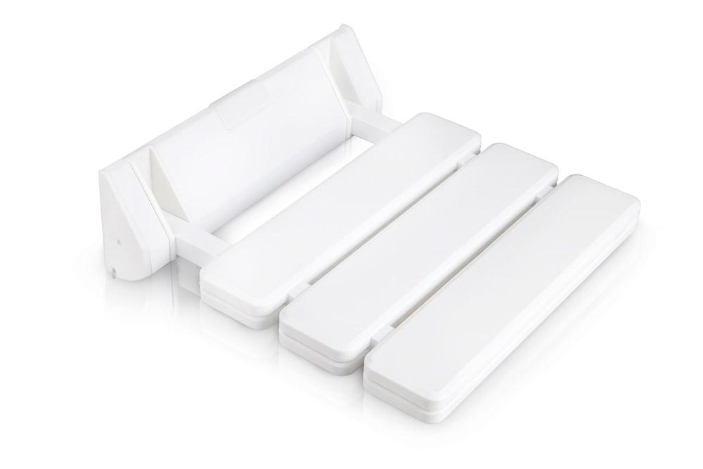 HomeLife Sedátko do sprchy 32 x 32 cm, sklopné, bílá (SDS32)