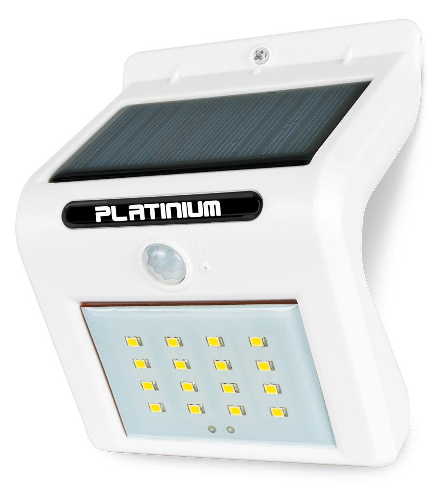 Platinium Nástěnné solární LED světlo 18001 s detektorem pohybu bílá
