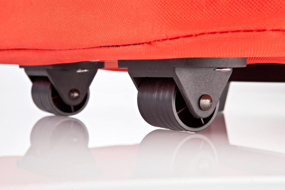 HomeLife Pojízdná skládací taška 41 litrů červená