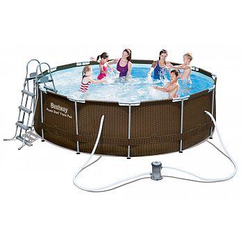 Bazén rodinný s konstrukcí Rattan 366 x 100 cm