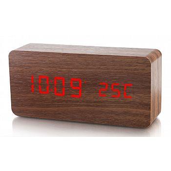 Dřevěný digitální LED budík WAC-020