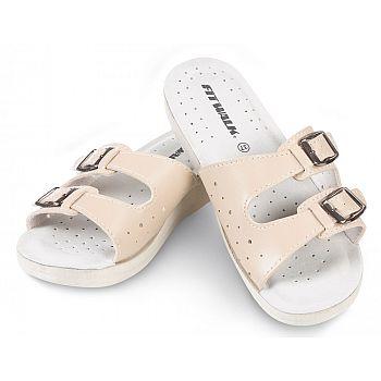 Dámské pantofle béžové