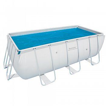 Solární plachta na bazén s konstrukcí 412x201x122 cm