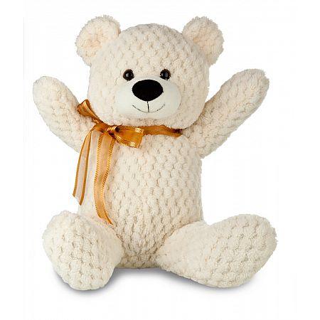Plyšový medvídek 31 cm, krémová