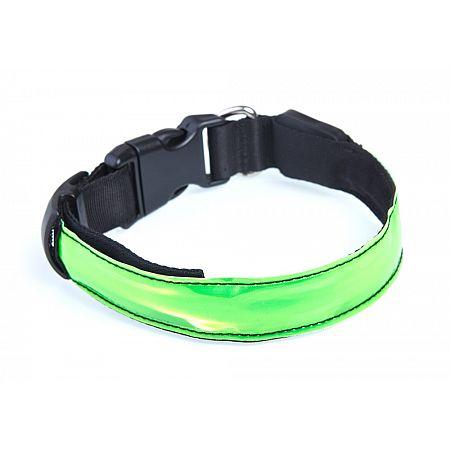 Reflexní LED obojek pro psy,  M