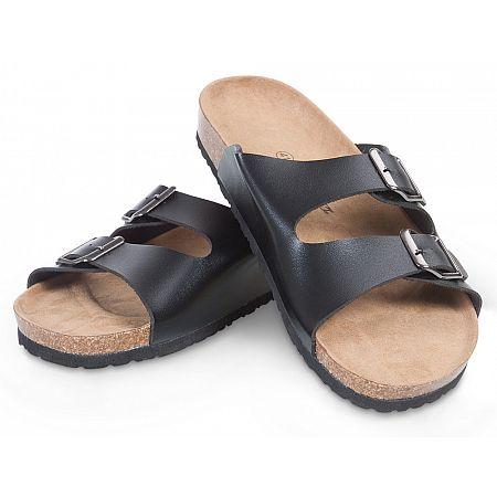 Pánské korkové pantofle černé, černá  40  vel.