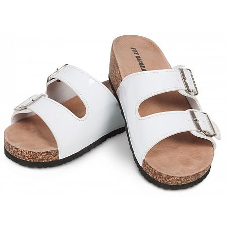 Dámské korkové pantofle bílé, bílá  37 vel.