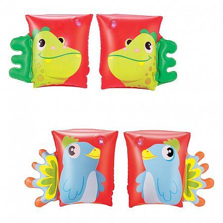 32115 Nafukovací rukávky zvířátko 23 x 15 cm dinosaur, papoušek