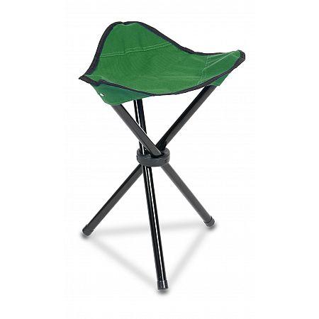 Skládací stolička trojnožka, zelená