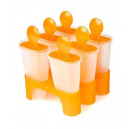 Tvořítko na zmrzlinu 6 ks, oranžová