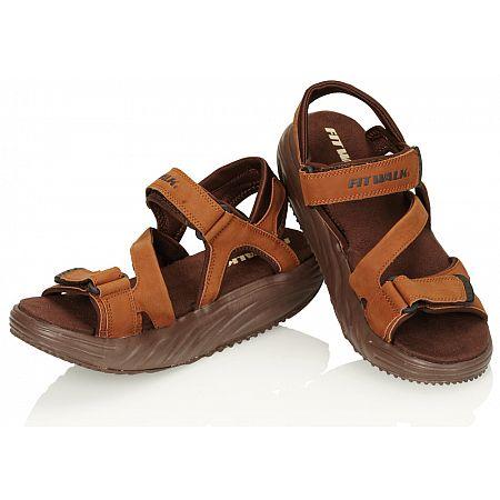 Zeštíhlující sandály FIT WALK hnědé, hnědá  46 vel.