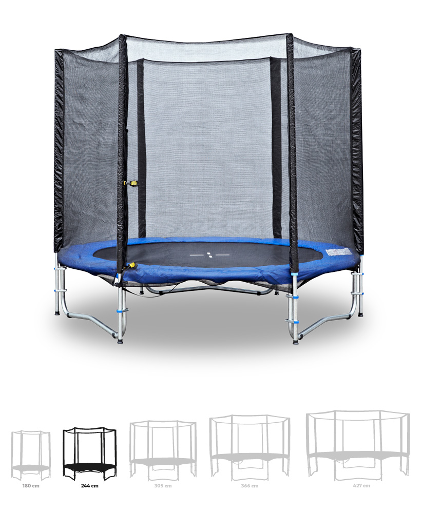 Fitness King Trampolína 244 cm + ochranná síť