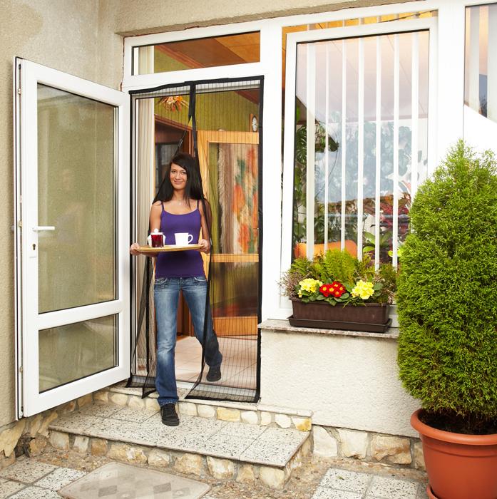 HomeLife Dveřní síť proti hmyzu 210 x 100 cm
