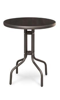 Garden King Zahradní stolek kovový se skleněnou deskou průměr 60 cm