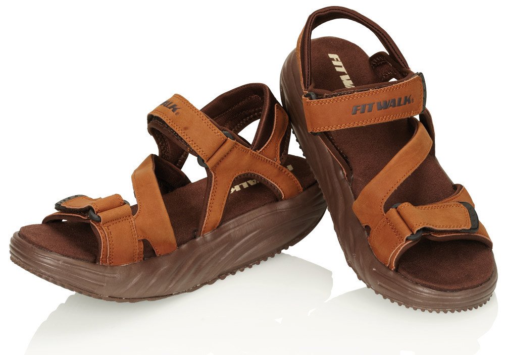 Fit Walk Zeštíhlující sandály FIT WALK hnědé